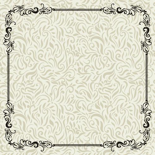 vintage pattern frame decoration