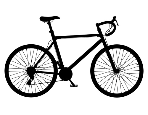 template sports realistic bicycle