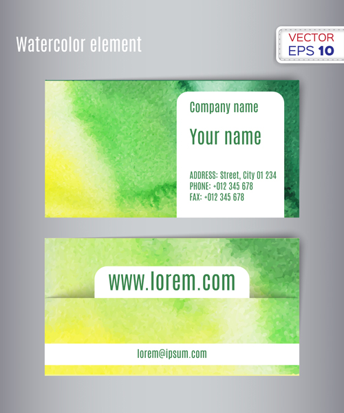 watercolor creative card business