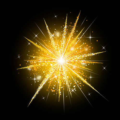 holiday golden Fireworks