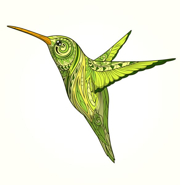pattern hummingbird floral