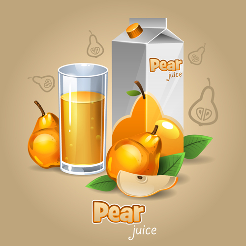 pear packaging juice cup