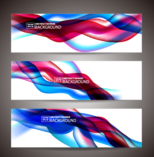 wavy vector graphics vector graphic colored banner