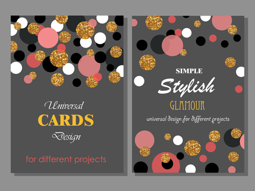 stylish ronud dot cards