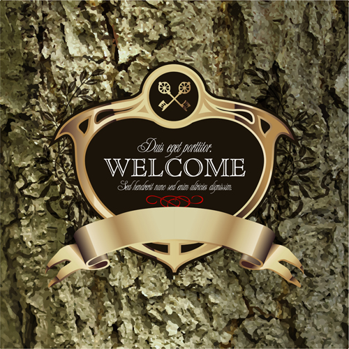 old luxury labels business bark background