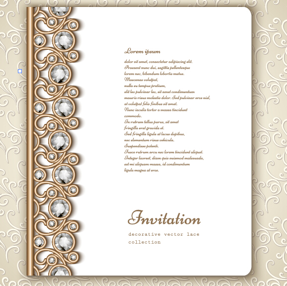 Jewelry decorative with invitation card vector 07 welovesolo jewelry invitation decorative card stopboris Choice Image