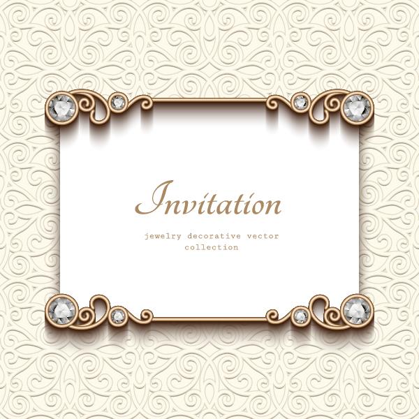 Jewelry decorative with invitation card vector 01 welovesolo jewelry decorative with invitation card vector 01 stopboris Choice Image
