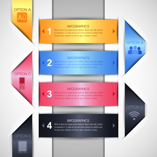 options infographics elements design creative