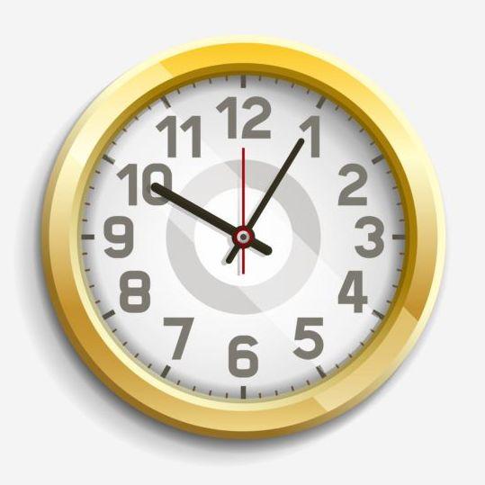 round golden clock