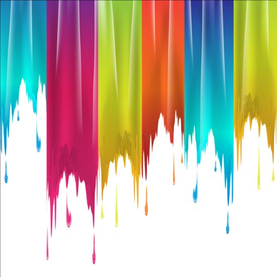 Paints drip colored background