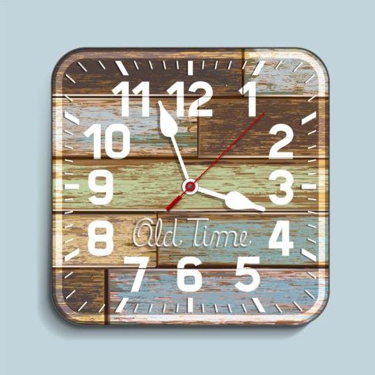 wood old clock
