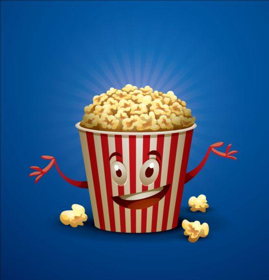 popcorn cinema buckets background