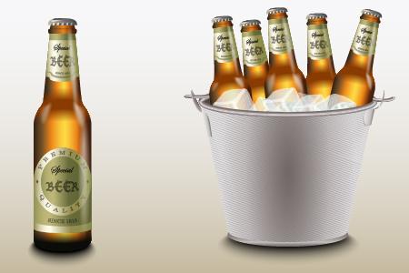 ice bottle beer