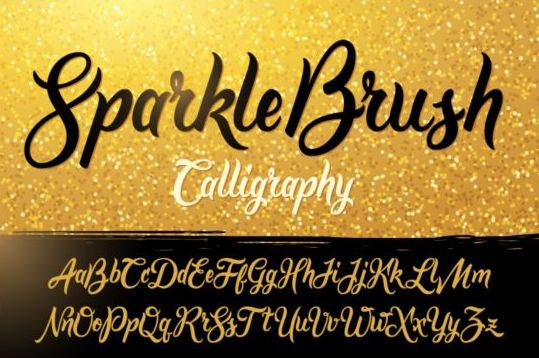 sparkle Calligraphy font brush