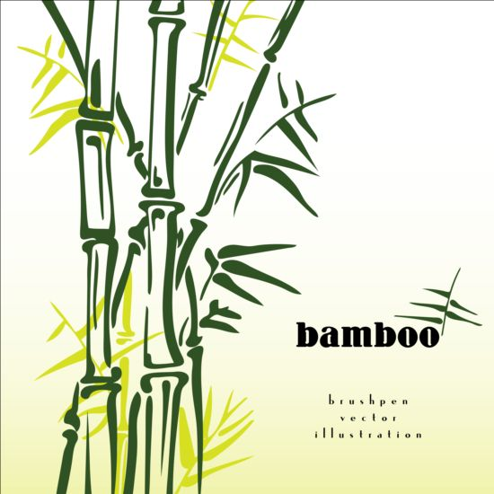pen illustration brush bamboo background