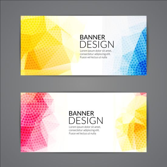 shapes geometric colored banners