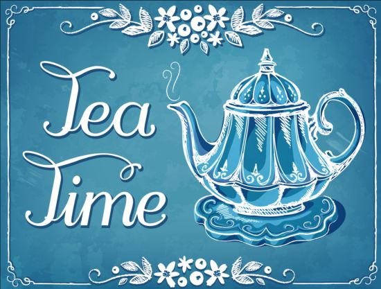 teapot hand drawn background