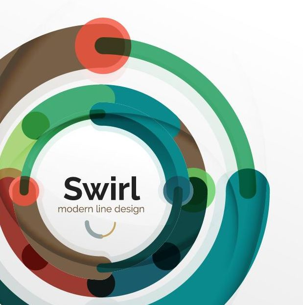 swirl shaped colored circle background