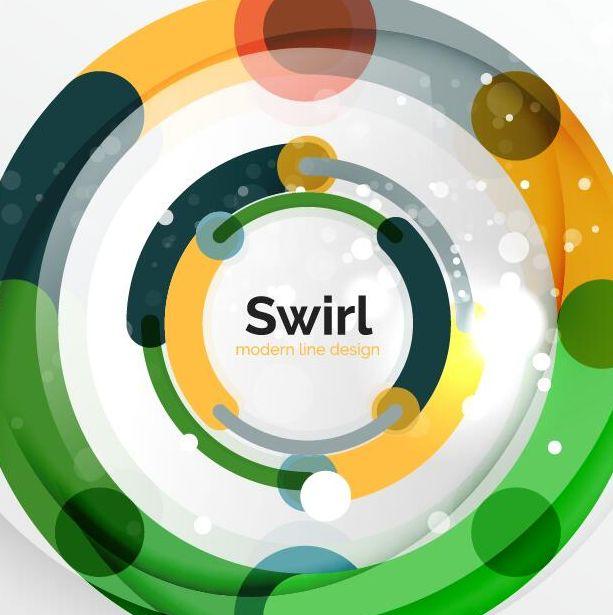 swirl shaped colored circle background