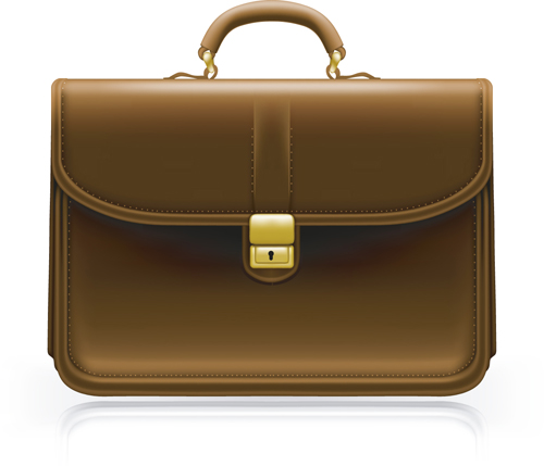 modern leather briefcase