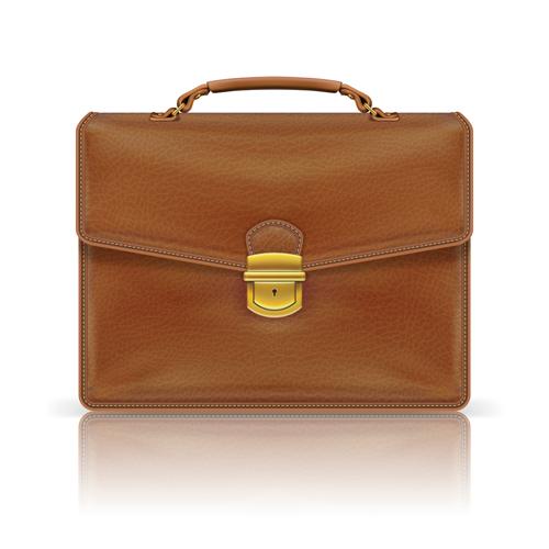 modern leather briefcase