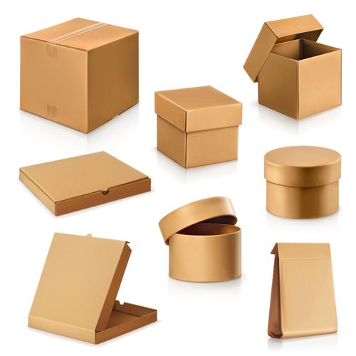 10yrzx13eln3e18 Various cardboard boxes vector