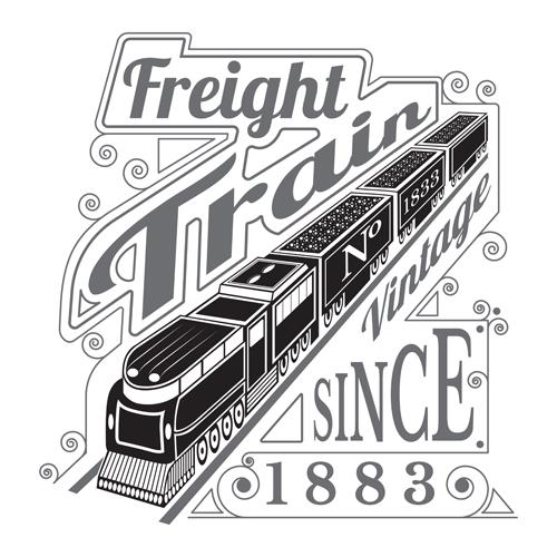 vintage train speed modern background