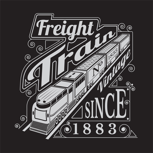 train old freight background