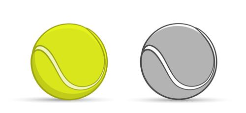 tennis graphics ball