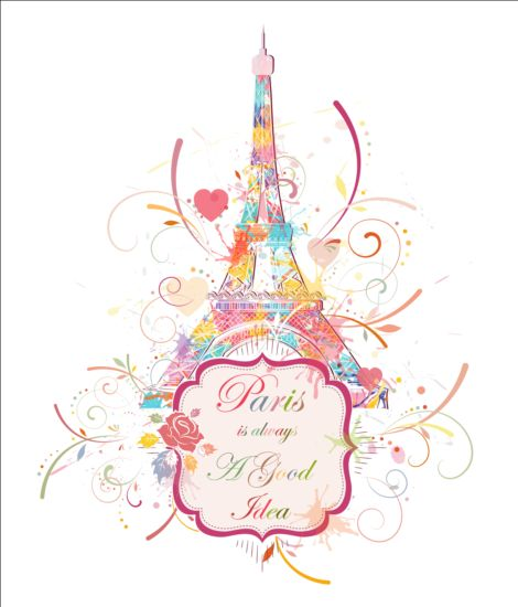 tower Paris Eiffel beautiful background