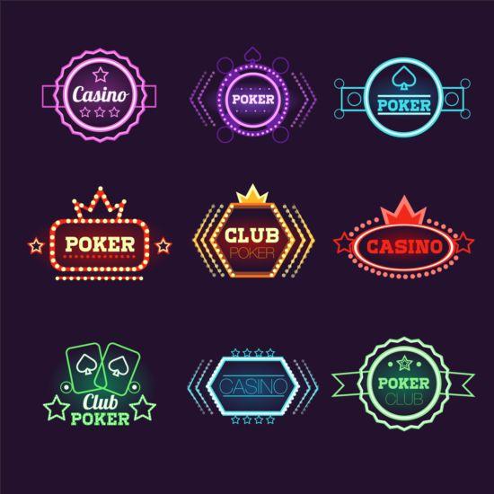 neon labels exquisite casino