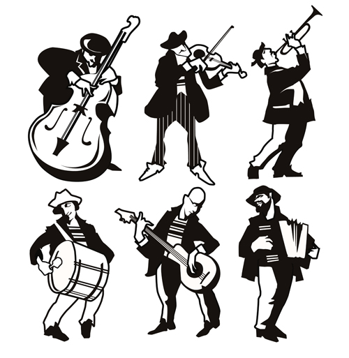 silhouetter musicians different
