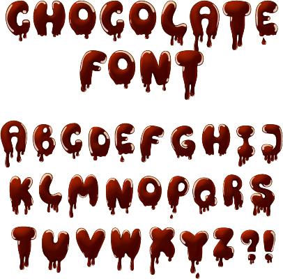 drip chocolate alphabet