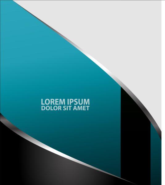 styles light flyer cover brochure blue black