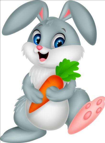 rabbit cartoon carrot