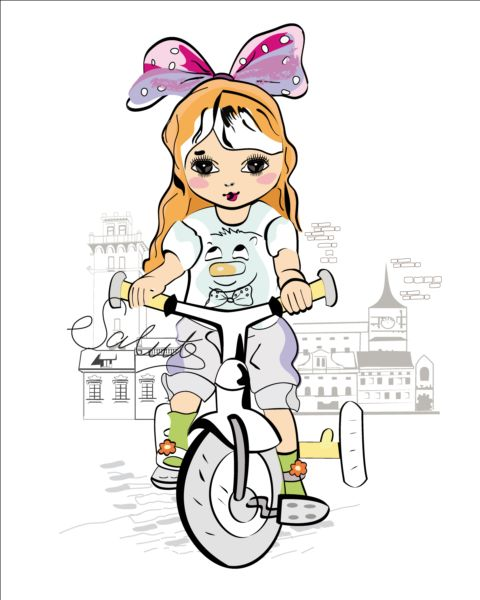 town girl bicycle