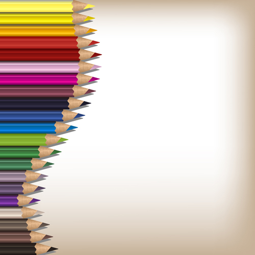 Colorful pencils backgrounds vector set 12 - WeLoveSoLo