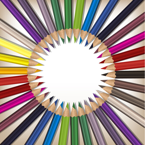 pencils colorful Backgrounds