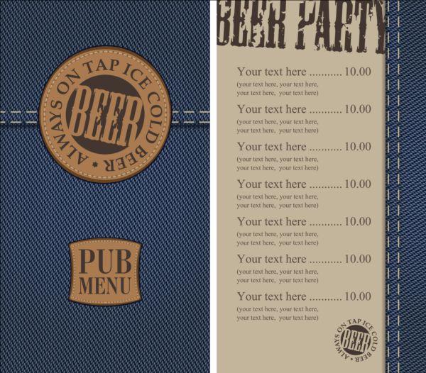textures menu denim Brewery