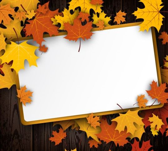 paper blank autumn leaves
