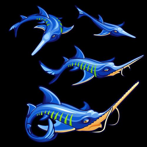 funny fish design cartoon