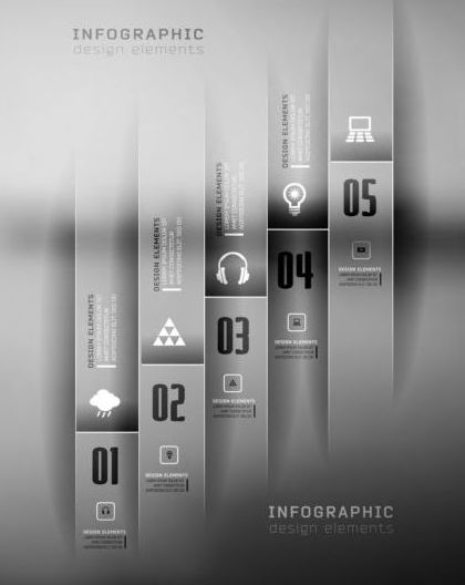 styles options infographics dark