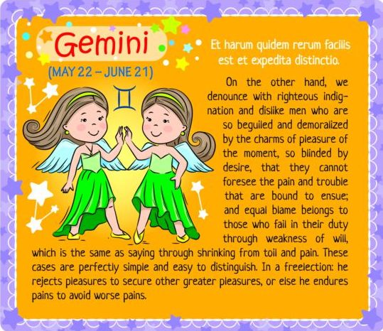 zodiac kid Gemini card
