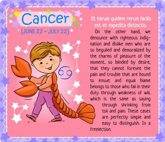 zodiac kid card cancer
