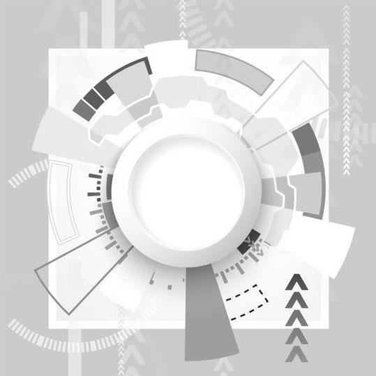 tech hud futuristic background
