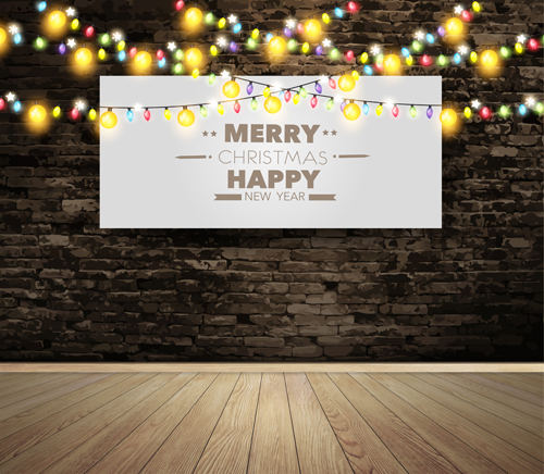 width wall lamp happy colored christmas