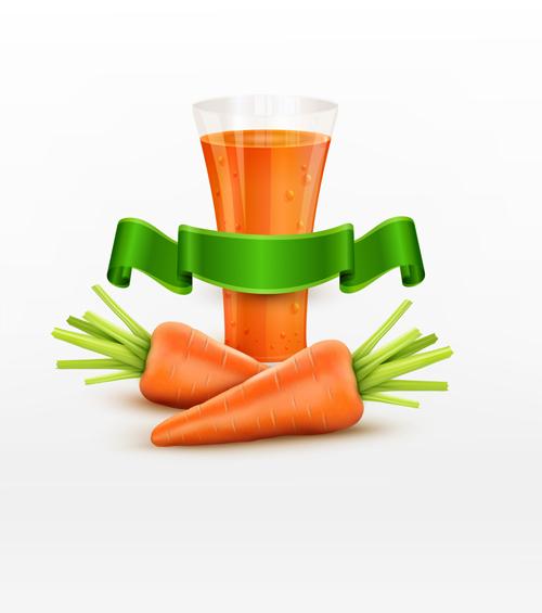 ribbon juice green carrot