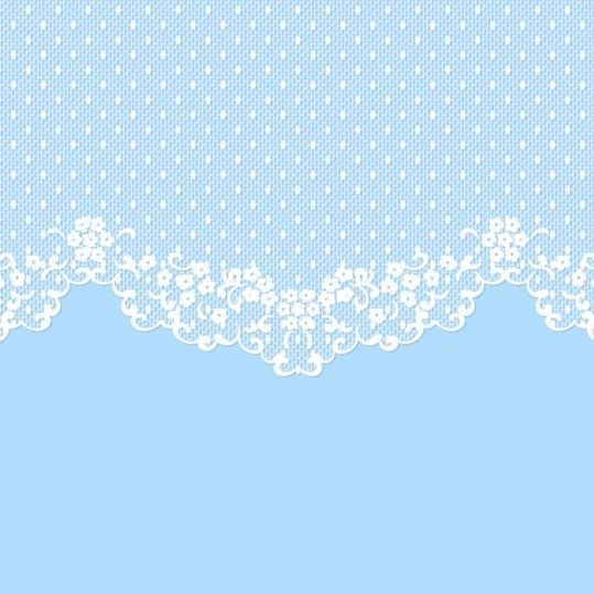 white lace blue background