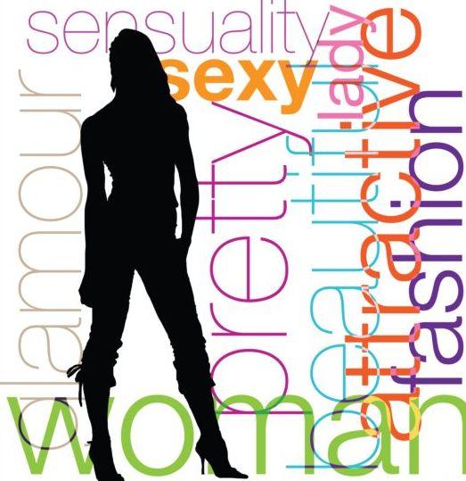 woman silhouetter fashion background