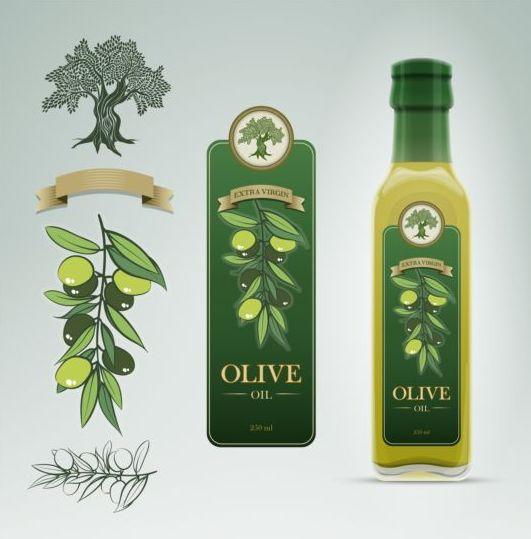 stickers olive oil illustration bottle